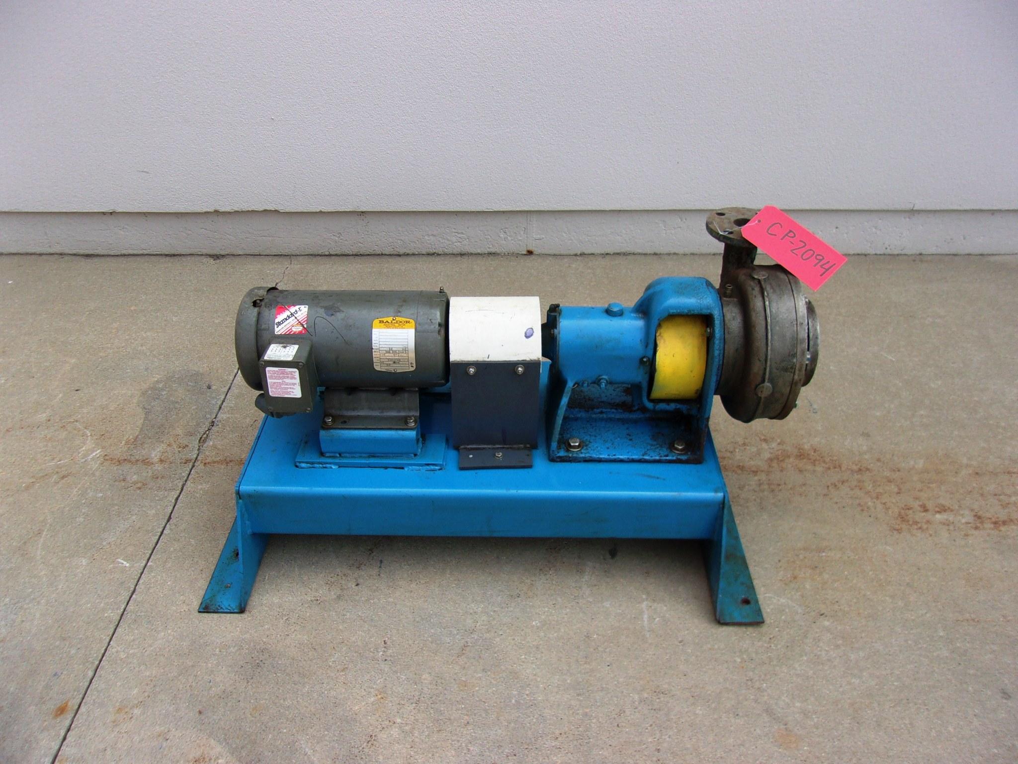 "Used Centrifugal Pump - Worthington 3 HP 2"" Inlet 1.5"" Outlet Centrifugal Pump-Pumps - Centrifugal"