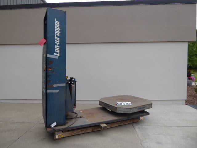 Used - Lantech Semi -Automatic High Profile Strech Wrapper-Material Handling