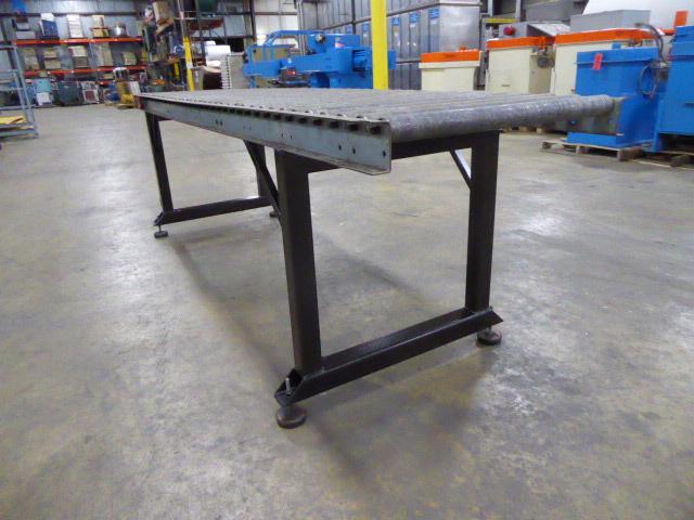 Used - Galvanized Steel Gravity Conveyor MH2173C-Material Handling
