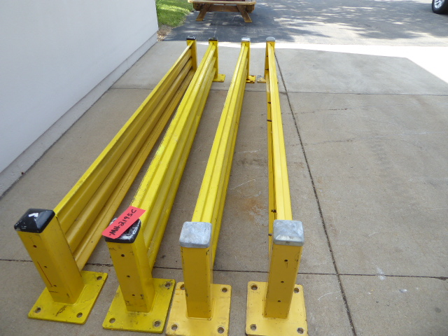 Used - Uline Guard Rails 1 lot of 4Pcs MH2195C-Material Handling