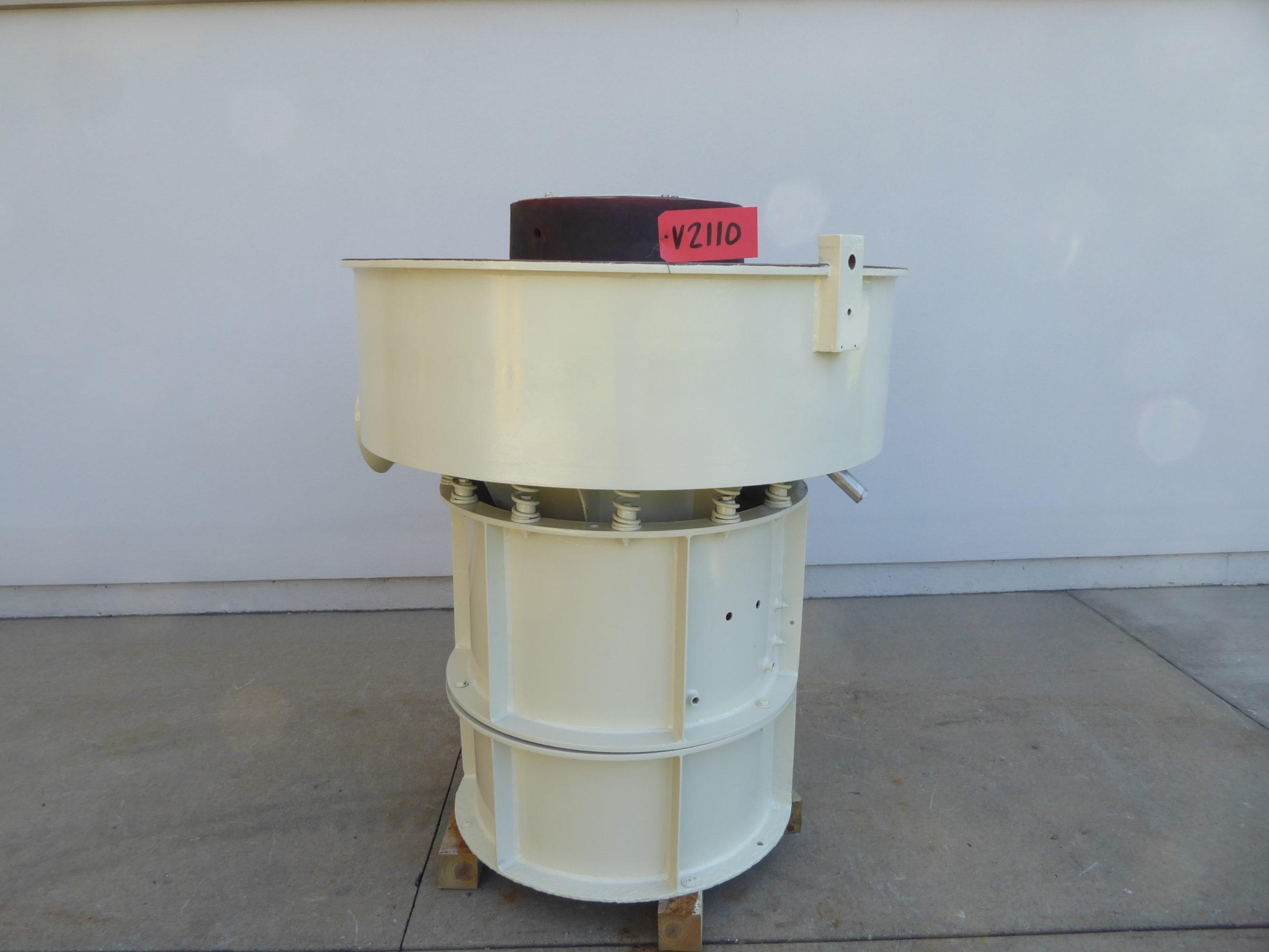 Used Vibratory / Polishing - Sweco 10 Cu Ft Vibratory Bowl V2110-Vibrators, Tumblers, Polishing