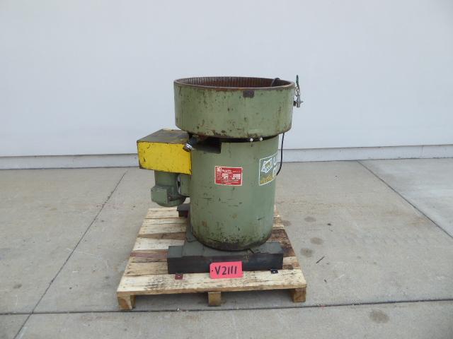 Used Vibratory / Polishing - Ultramatic Equipment 1.5 Cu Ft Vibratory Bowl Finisher V2111-Vibrators, Tumblers, Polishing