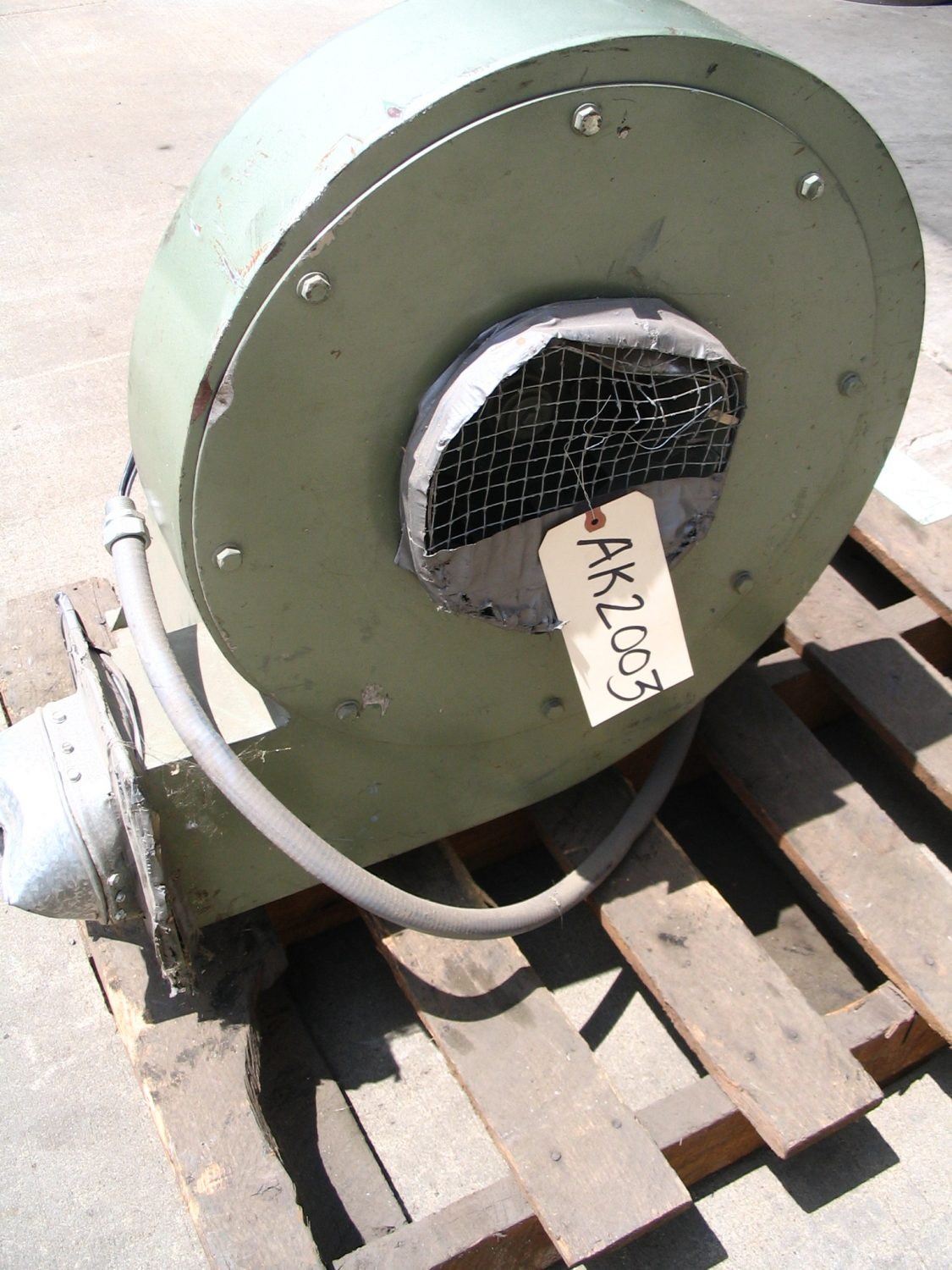 """Used Air Knife Blower - FIMM 4 HP Air Knife Blower 440 volt 8"""" Inlet-Blowers -Air Knife/Circulation"""