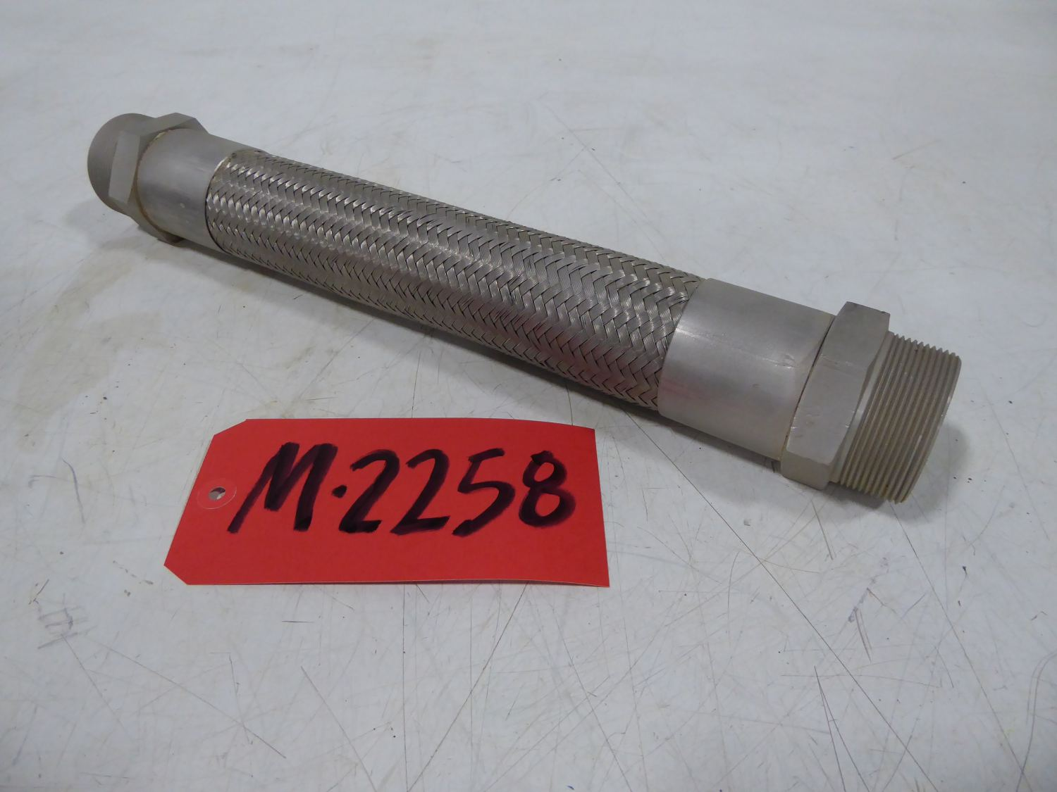"""Used - 2"""" MPT Stainless Steel Flex Hose Coupling-Misc. Equipment"""
