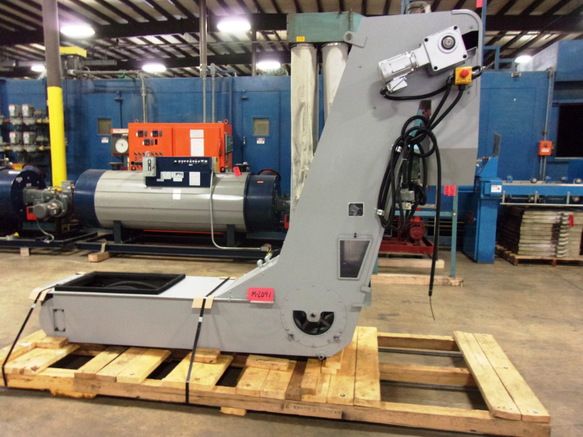 """Used - 14"""" Wide Incline Chip Conveyor-Material Handling"""