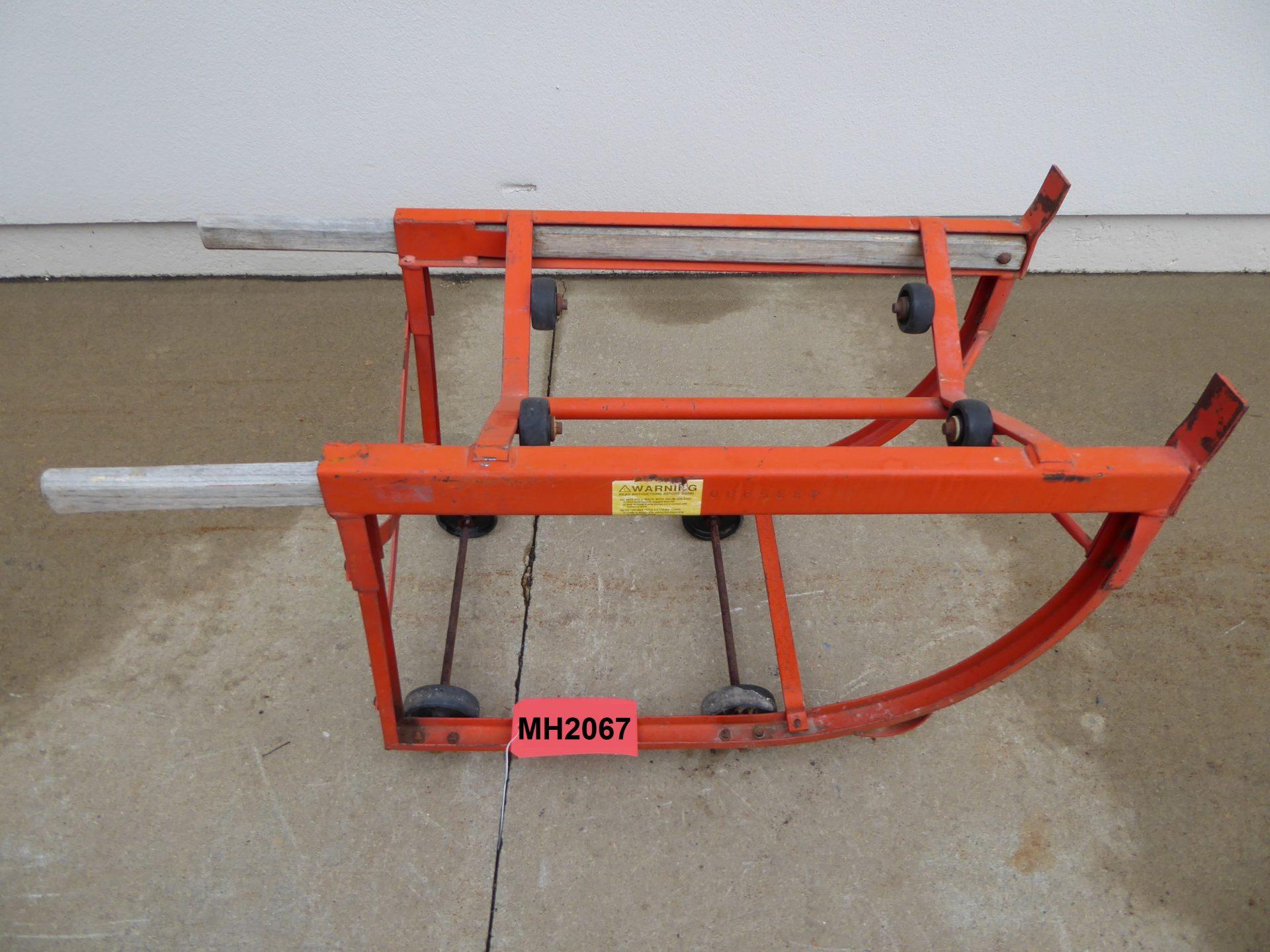 Used - Wesco Steel Drum Cradle-Material Handling